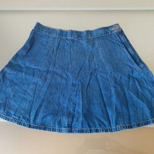 AE Blue denim skirt - size 6
